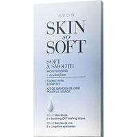 AVON skin so soft smooth moisturising Wachsstreifen für das Gesicht