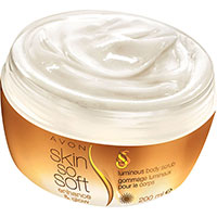 AVON skin so soft enhance & glow Schimmer-Körperpeeling