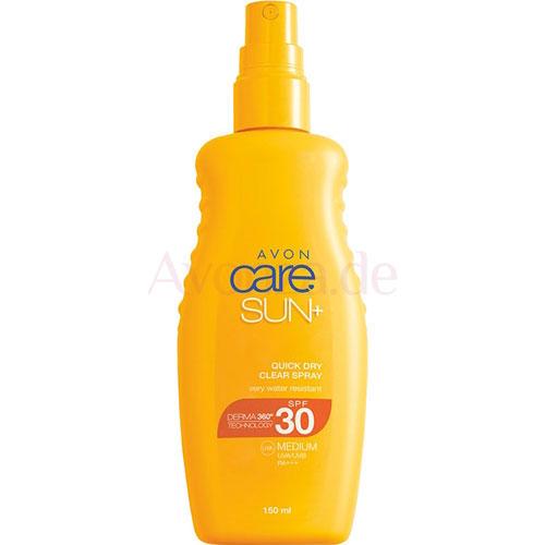AVON care SUN+ Transparentes Sonnenschutz Spray LSF 30