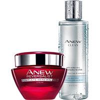 AVON ANEW Reversalist Nachtcreme + Clean 3-in-1 Gesichtswasser Set