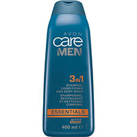 AVON care MEN Essentials 3-in-1 Shampoo, Spülung & Duschgel 400 ml
