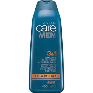 AVON care MEN Essentials 3-in-1 Shampoo, Spülung & Duschgel 400 ml