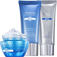 AVON ANEW Clinical Defend & Repair System-Set 3-teilig