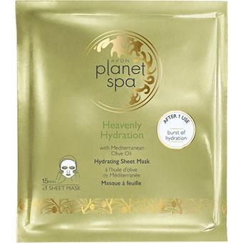 AVON planet spa Heavenly Hydration Tuchmaske