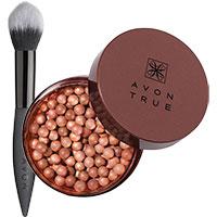 AVON Bronze-Puderperlen + Rouge Pinsel-Set