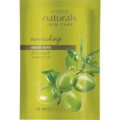 AVON naturals Grüne Olive Pflegende Gesichtsmaske im Beutel