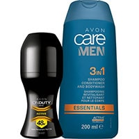 AVON care Men 3-in-1 Shampoo + On Duty Men's Active Deoroller Set