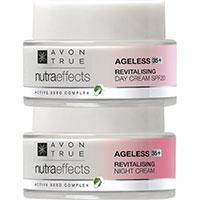 AVON nutra effects Ageless 35+ Tagescreme + Nachtcreme Set