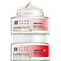 AVON nutra effects Ageless 45+ Tagescreme + Nachtcreme Set