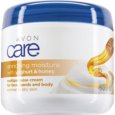 AVON care Mehrzweckcreme für Gesicht, Hände & Körper mit Joghurt & Honig