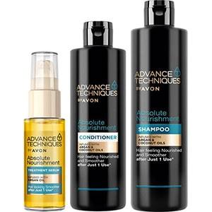 AVON Advance Techniques Marokkanisches Arganöl Haarpflege-Set 3-teilig + Geschenktasche