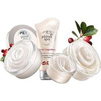 AVON planet spa Arctic Lingonberry Antioxidative Körperpflege Set 4-teilig + Geschenktasche