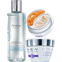 AVON ANEW Clinical Lift & Firm Pflege-Set + Clean Gesichtswasser