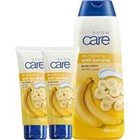AVON care Körperpflege-Set mit Bananen 3-teilig + Geschenktasche