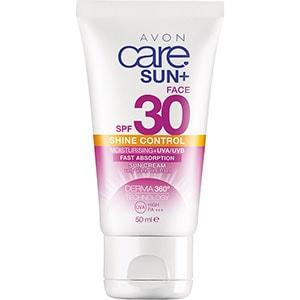AVON care Sun+ Sonnencreme für das Gesicht mit mattierendem Effekt LSF 30