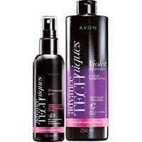 AVON Advance Techniques Farbschutzspray + Shampoo für Blondiertes Haar 400 ml Set