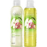 AVON naturals Apfel & Geißblatt Duschgel + Körperlotion Set