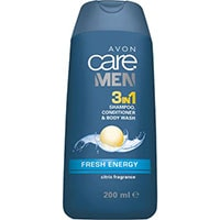 AVON care Men Fresh Energie 3-in-1 Shampoo, Spülung & Duschgel