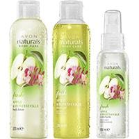 AVON naturals Apfel & Geißblatt Körperpflege-Set 3-teilig