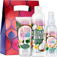 AVON naturals Aloha-Monoi Körperpflege-Set 3-teilig