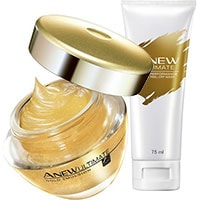 AVON ANEW Ultimate Gold-Peelingmaske + Ultimate 7S Gold Emulsion Set