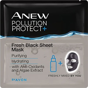 AVON ANEW Pollution Protect Schwarze Tuchmaske 3er Set