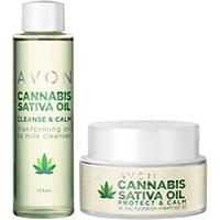 AVON Cannabis Sativa Öl Pflege-Set 2-teilig