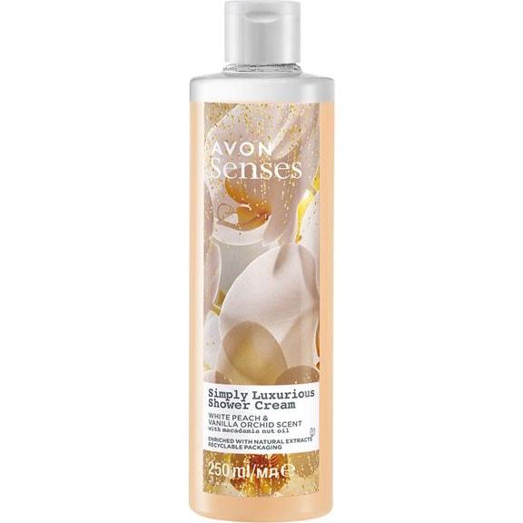 AVON senses Precious Oils Pfirsich & Vanille-Orchidee Duschcreme 250 ml