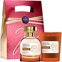AVON Artistique Ambre Arden Eau de Parfum + Duftkerze Set + Geschenktasche