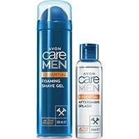 AVON care Men Rasiergel + Aftershave-Feuchtigkeitspflege Set