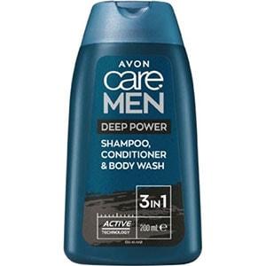 AVON care Men 3-in-1 Shampoo & Duschgel mit Aktivkohle