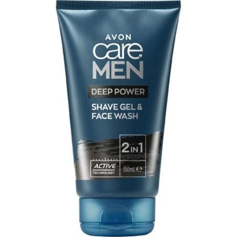 AVON care Men 2-in-1 Rasiergel & Waschgel mit Aktivkohle