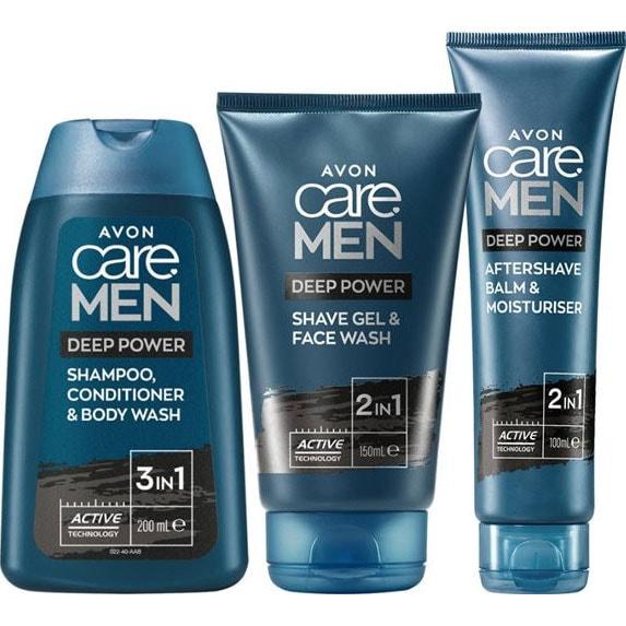 AVON care Men Pflege-Set mit Aktivkohle 3-teilig