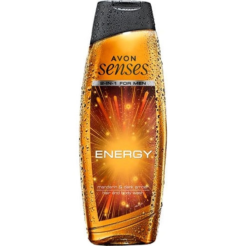 AVON senses Energy 2-in-1 Shampoo & Duschgel 500 ml