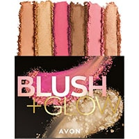 AVON Blush & Glow Rouge-, Bronzepuder & Highlighter-Palette