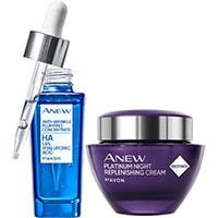 AVON ANEW Platinum Nachtcreme + ANEW Clinical Anti-Plumping-Konzentrat