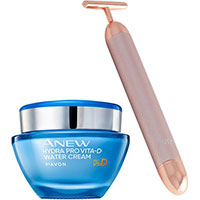 AVON ANEW Hydra Pro Vita-D Water Creme + Gesichtsmassage-Gerät Set