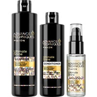 AVON Advance Techniques Ultimate Shine Haarpflege-Set 3-teilig