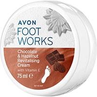 AVON FOOT WORKS Schokolade & Haselnuss Fußcreme