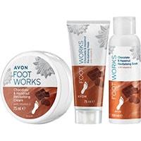 AVON FOOT WORKS Schokolade & Haselnuss Fußpflege-Set 3-teilig