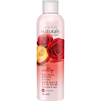 AVON naturals body Rote Rose & Pfirsich Körperlotion