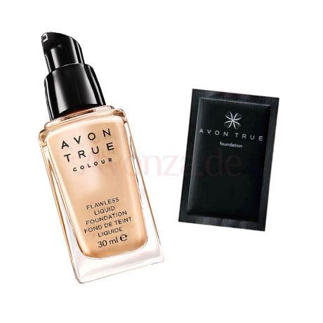 Probe Make-up AVON True Colour Flüssige Foundation