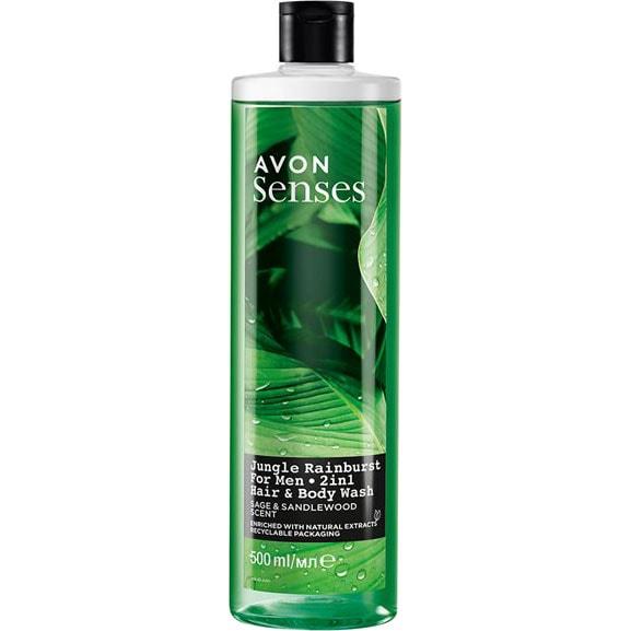 AVON senses Amazon Jungle 2-in-1 Shampoo & Duschgel 500 ml