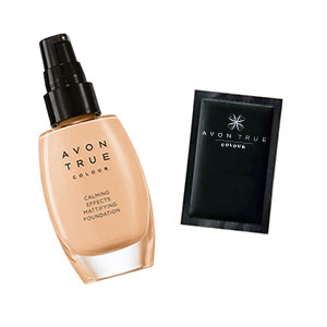Probe Make-up AVON True Colour Calming Effects Mattierende Foundation