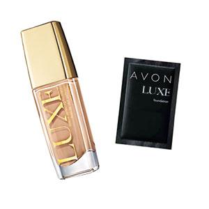 Probe Make-up AVON LUXE Makelloser Teint Foundation LSF 10