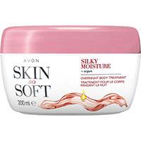AVON skin so soft silky moisture Intensive Körperpflegecreme für die Nacht