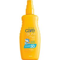 AVON care SUN+ Kids Türkisfarbenes Sonnenschutz Spray LSF 30