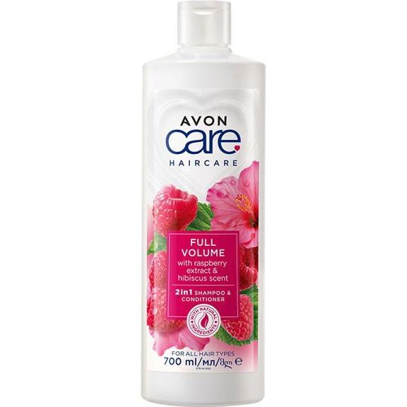 AVON naturals hair Himbeere & Hibiskus Volumen-Shampoo 700 ml