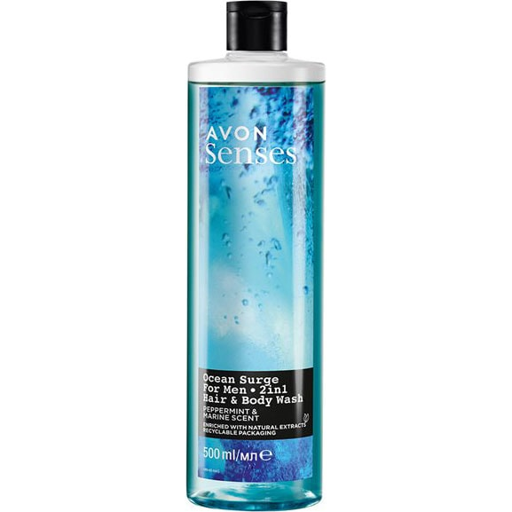 AVON senses Ocean Surge 2-in-1 Shampoo 500 ml