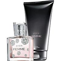 AVON Femme Eau de Parfum Reisegröße + Körperlotion Set